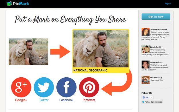 Immagini online: inserire un watermark e condividerle con PicMark