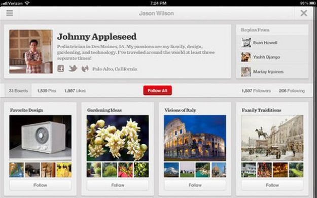 pinterest app ipad android