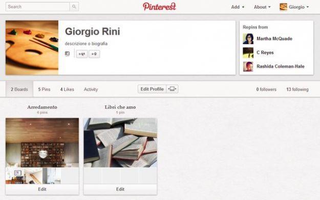 pinterest nuova grafica profili