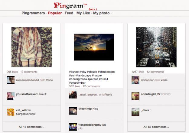 Pinterest e Instagram si uniscono, ecco a voi Pingram
