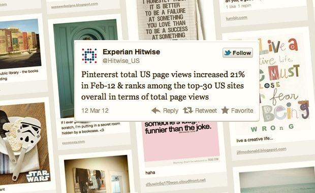 Pinterest: il social network entra nella top 30 dei siti USA