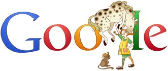 Google Doodle per Pippi Calzelunghe