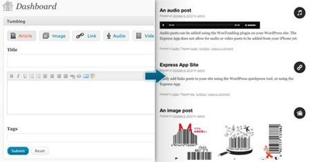 Plugin per WordPress per creare un blog accattivante in stile Tumblr: WooTumblog