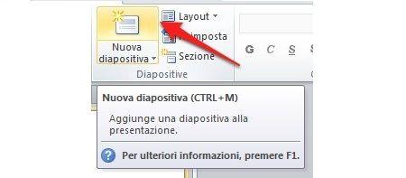 Inserire diapositiva in PowerPoint: layout e contenuto