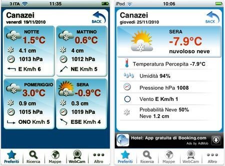 previsioni meteo iphone tempo italia