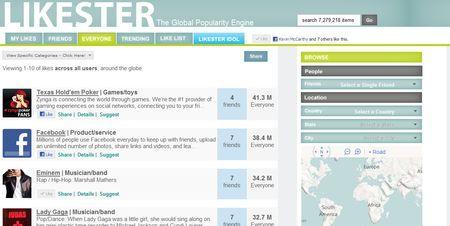 Profilo di Facebook: visualizzare ciò che piace con Likester