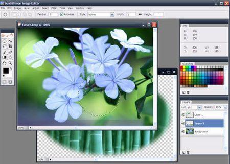 Programmi gratis per fotoritocco: SunlitGreen Photo Editor