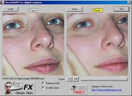 Programmi gratis per il fotoritocco: CleanSkinFX