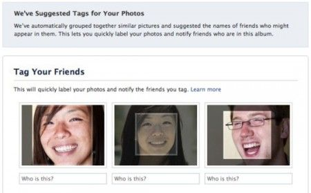 pubblicita facebook riconoscimento facciale