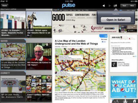 Pulse in versione iPhone e in versione iPad