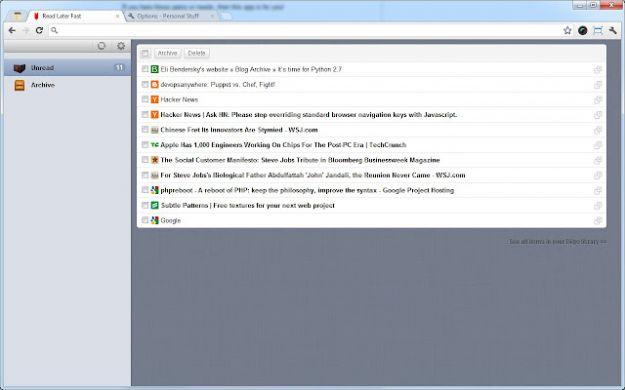 Trucchi per Chrome: leggere dopo le pagine web con Read Later Fast