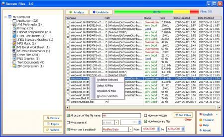 recover files screenshot