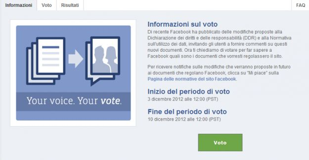 Privacy Facebook: il referendum è online senza speranza di quorum