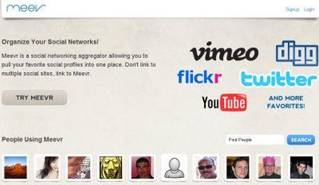 Organizzare i social network con Meevr