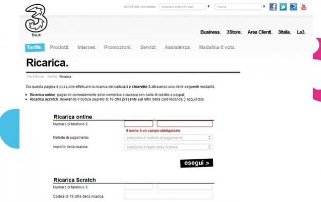 ricarica online 3