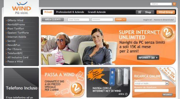 ricarica online wind