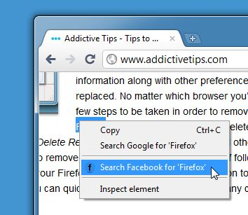 Fare una ricerca su Facebook con Facebook Fast Search per Chrome