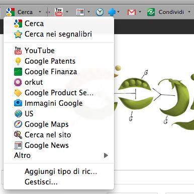 ricerca google toolbar