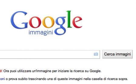 ricerca immagini visuale google