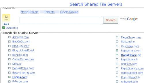ricerca siti file hosting