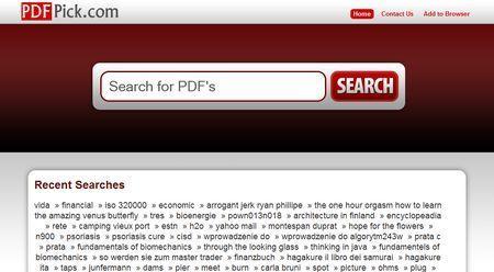 Come cercare PDF su internet con PDFPick