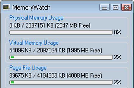 Monitorare le risorse del computer con MemoryWatch