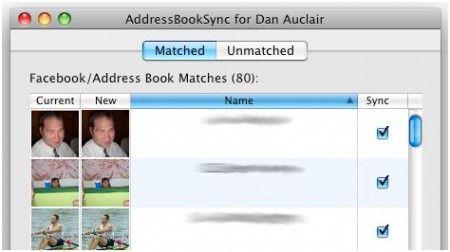 Sincronizzare la rubrica del Mac (o quasi) con i contatti Facebook con AddressBookSync