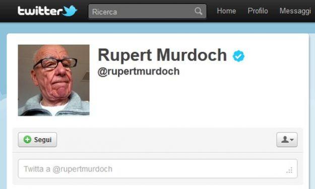 Anche Rupert Murdoch si iscrive su Twitter