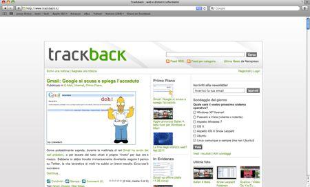 Safari 4 trackback