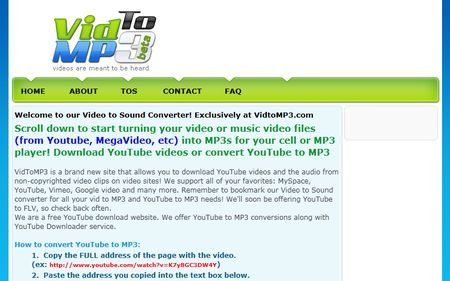 scaricare da youtube vidtomp3