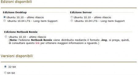 scaricare ubuntu versioni