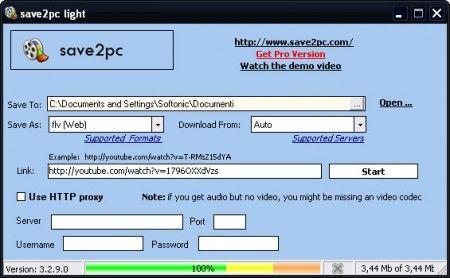 scaricare video save2pc