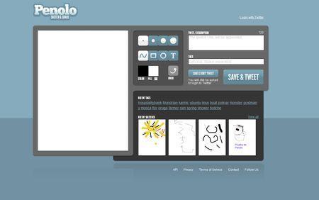 Condividere schizzi su Twitter con Penolo