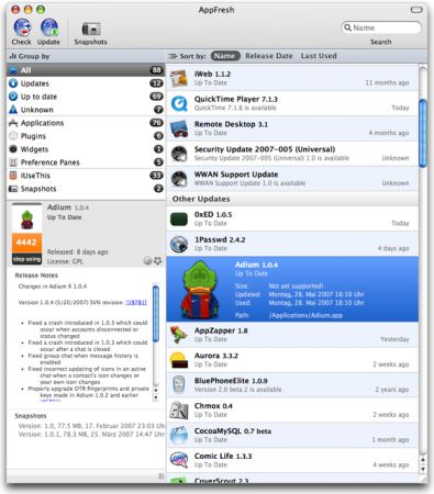 AppFresh Screenshot