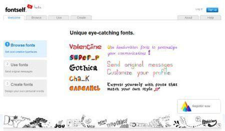 scritte fontself
