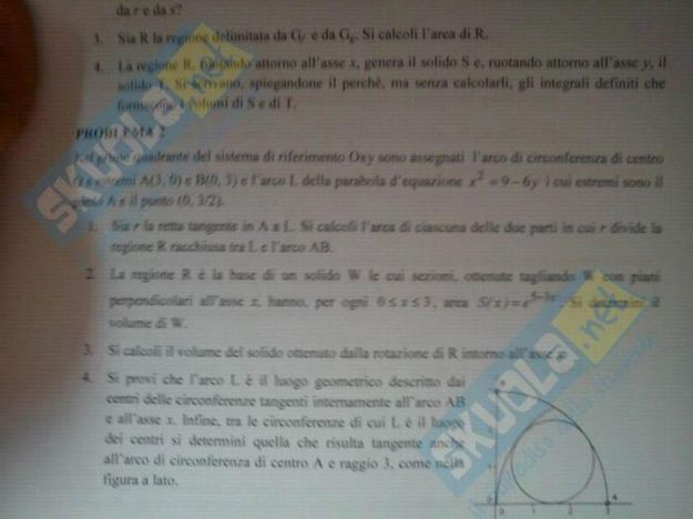 seconda prova matematica maturita 2012