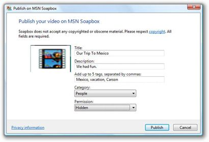 Share Windows Live Movie Maker