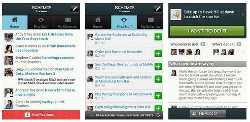 Il servizio Google Schemer disponibile su Android Market