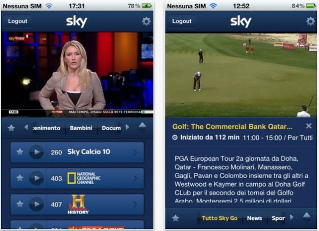 Sky su iPhone: è finalmente disponibile Sky Go su App Store