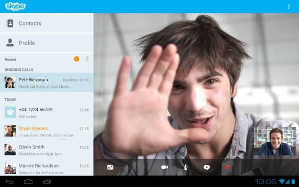 Skype per Android, su Google Play la versione 3.0