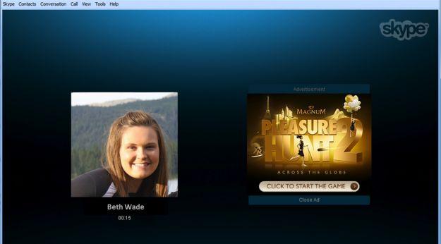 skype pubblicita ads