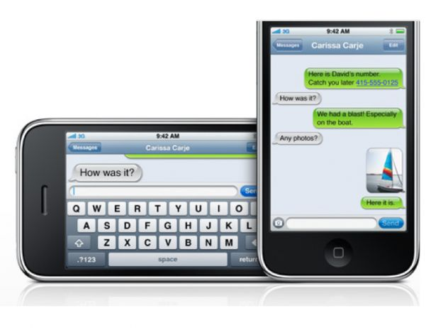 sms iphone ios