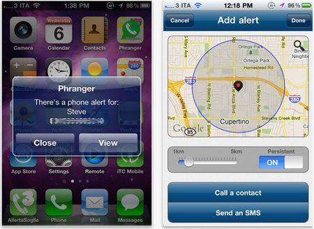 sms iphone phranger