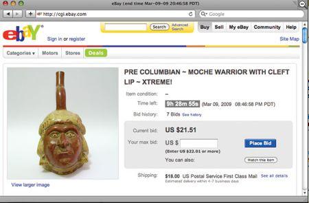 Ebay proteggerà l'archeologia.. Coi falsi!