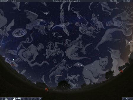 stellarium screenshot costellazioni