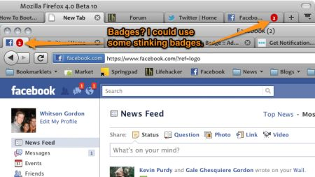 Facebook e Gmail: tener d'occhio le notifiche con Tab Badge