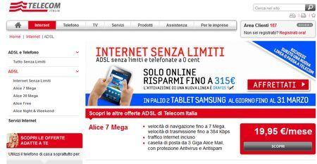 tariffe adsl telecom italia