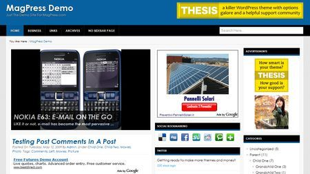 temi wordpress bluecore