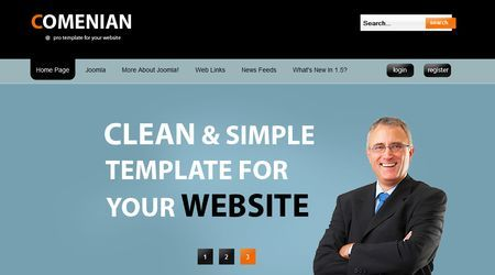 Template per Joomla gratis: Comenian