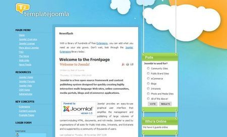 Template per Joomla per siti internet: Happiness